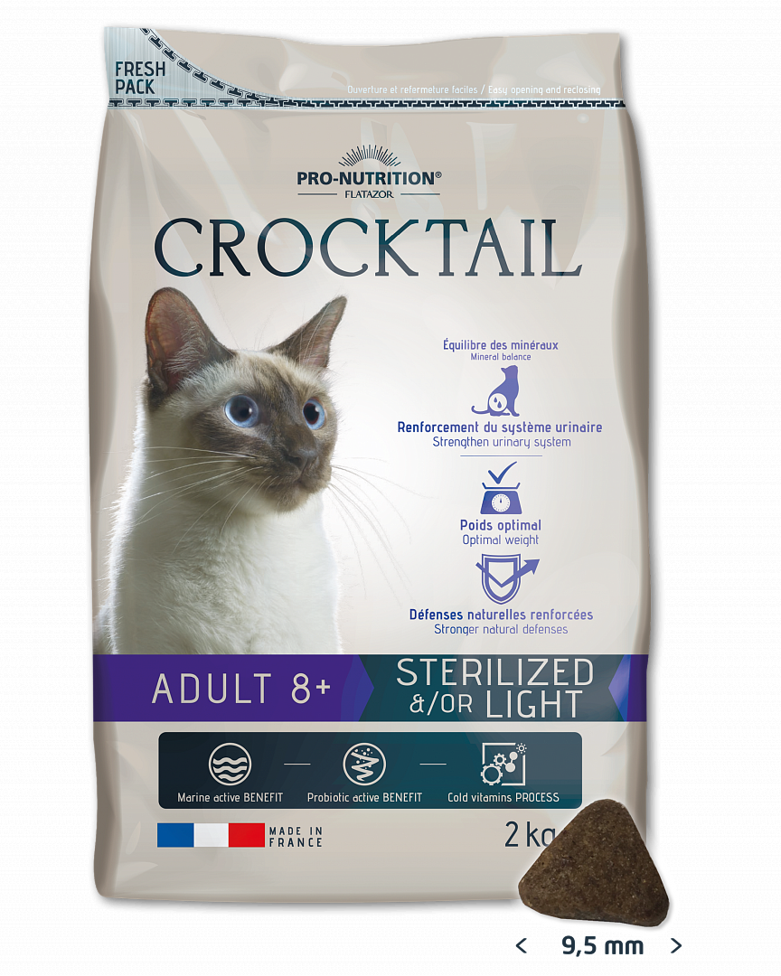 CROCKTAIL ADULT 8+ STERILIZED &/OR LIGHT